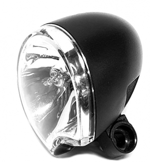 Spanninga voorlicht Hella Micro FF halogeen dynamo 10 Lux led zwart