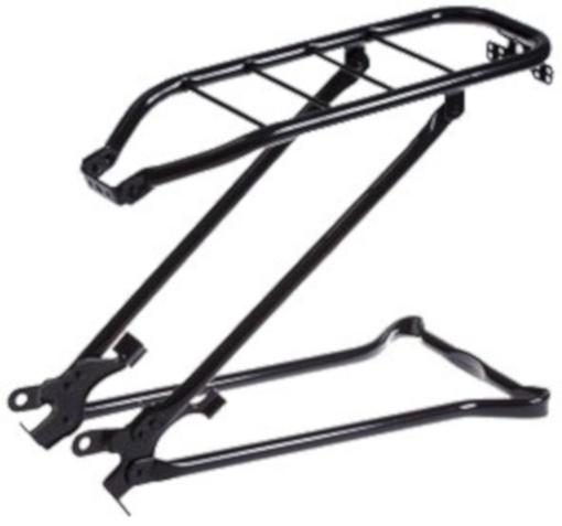 Steco bagagedrager achter met klapstandaard 28 inch staal zwart