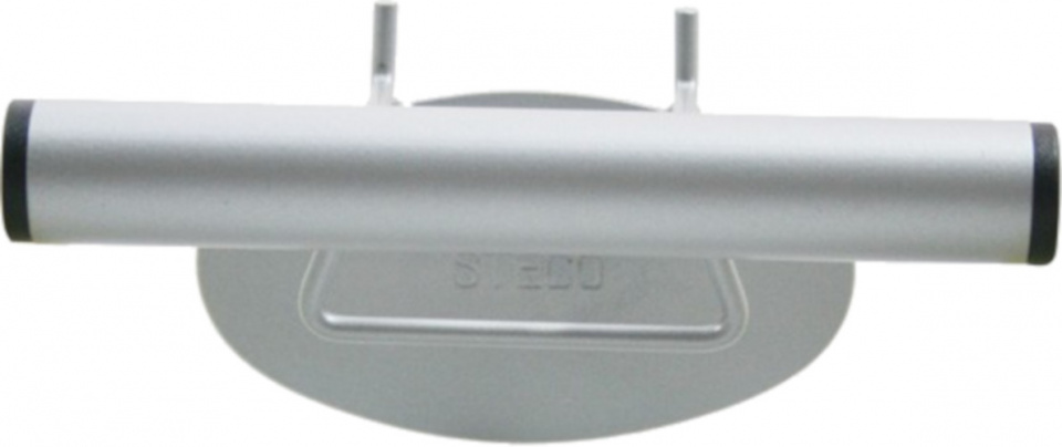 Steco wandpresentatiebeugel voordrager 16 cm staal zilver