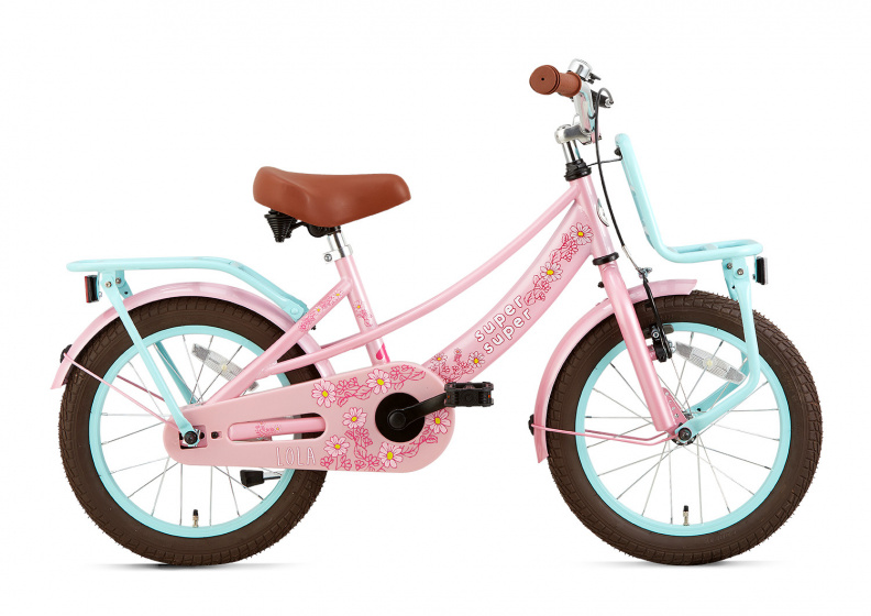 Supersuper Lola 16 Inch 25,4 Cm Meisjes V-brakes Roze/turquoise online kopen