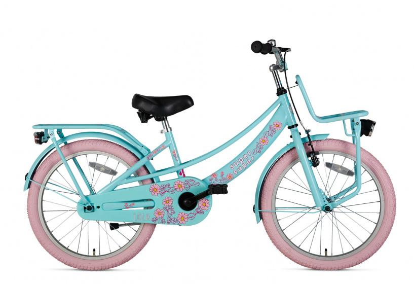 Supersuper Lola 20 Inch 31,75 Cm Meisjes V-brakes Lichtblauw/roze online kopen