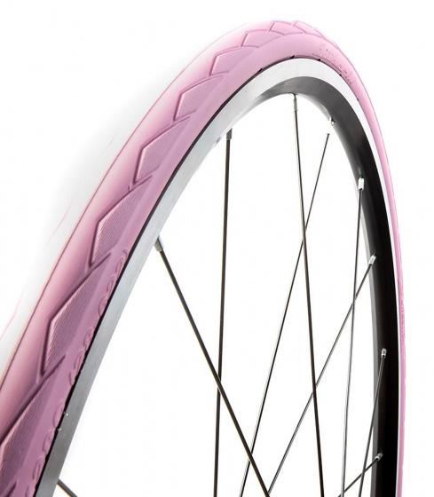 Tannus buitenband Semi Slick Airless 28 x 1.10 (28 622) roze/wit