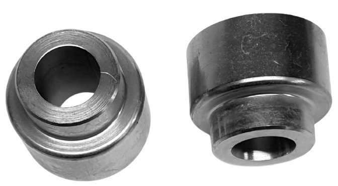 Tioga fittings OS-TRC 20 mm staal zilver 2 stuks