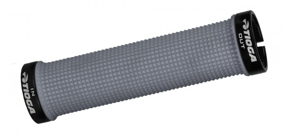 Tioga handvatten Lock On Slim 135 mm grijs per paar