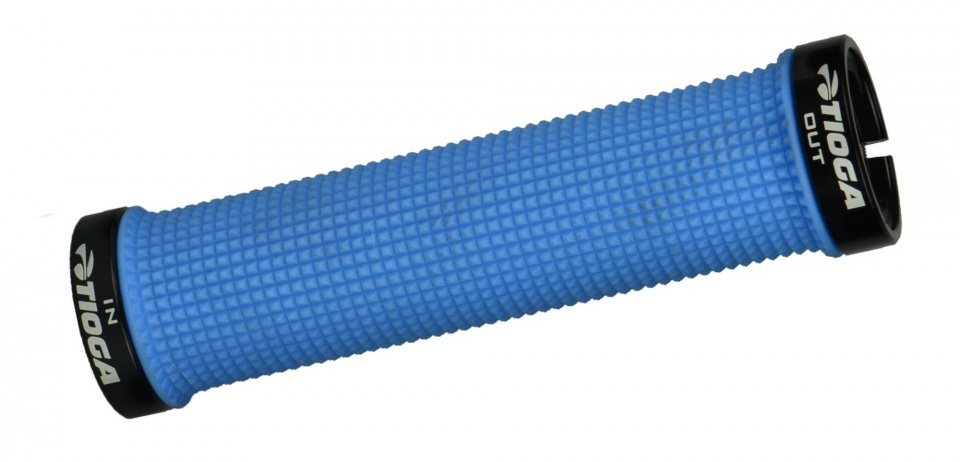Tioga handvatten Lock On Slim 135 mm lichtblauw 2 stuks