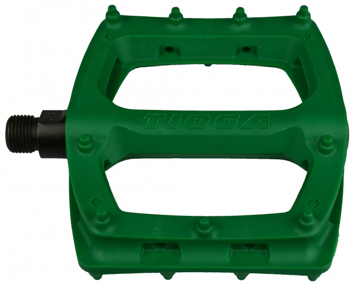 Tioga platformpedalen Surefoot Slim 110 mm 9-16 inch groen