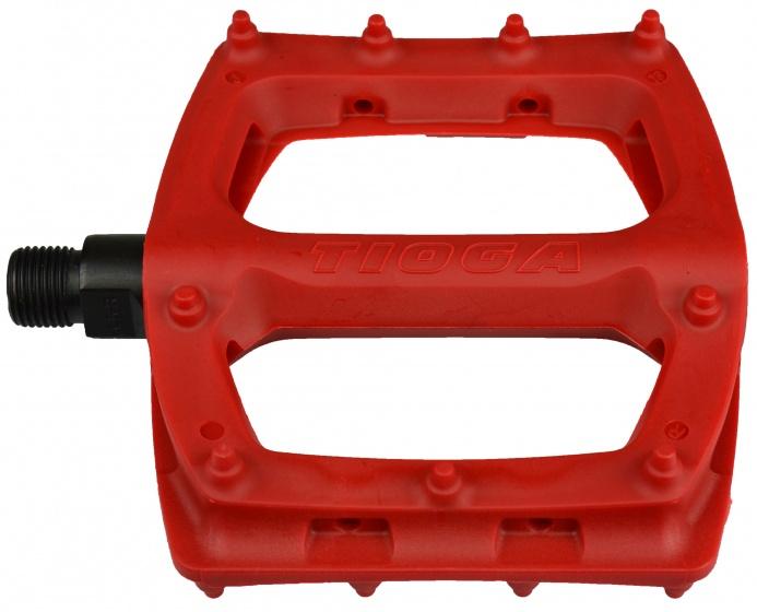 Tioga platformpedalen Surefoot Slim 110 mm 9-16 inch rood
