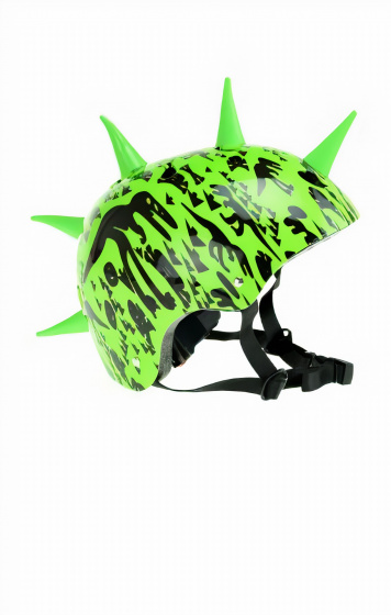 Toi Toys fietshelm met spikes Pro Sports junior 58 61 cm groen