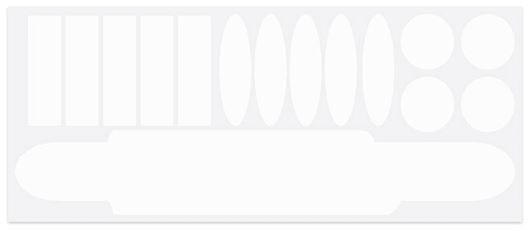 TOM beschermstickers 9 x 23 cm transparant 15 delig