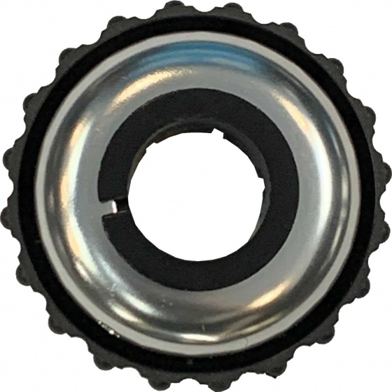 TOM draaibel 53 mm aluminium zilver/zwart