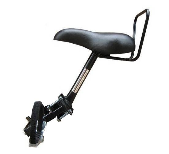 TOM fietszitje op buis damesfiets 2 buizen zwart