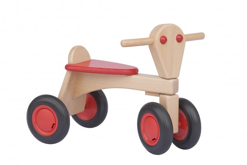 Van Dijk Toys houten loopfiets Junior Rood