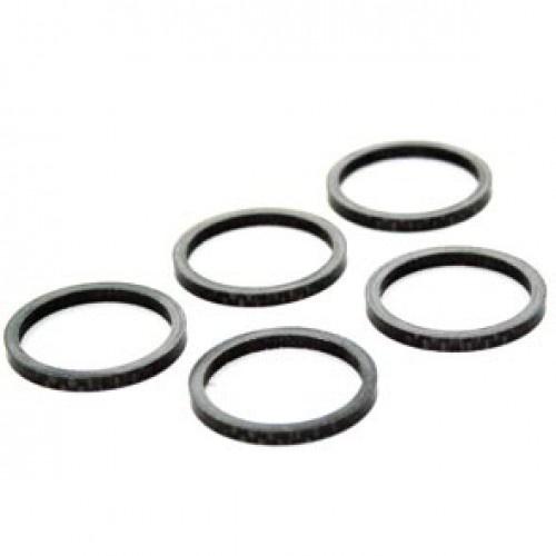TOM spacers 1 1/8 inch 5 mm carbon zwart 5 stuks