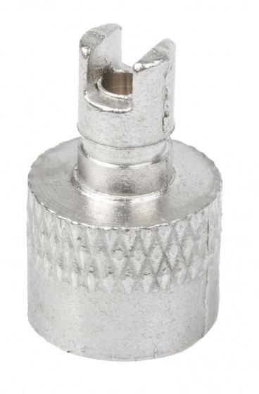 TOM uitdraainippel AV aluminium zilver