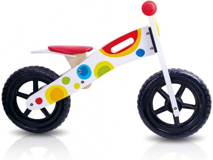 Tooky Toy loopfiets Junior Wit/Multicolor online kopen