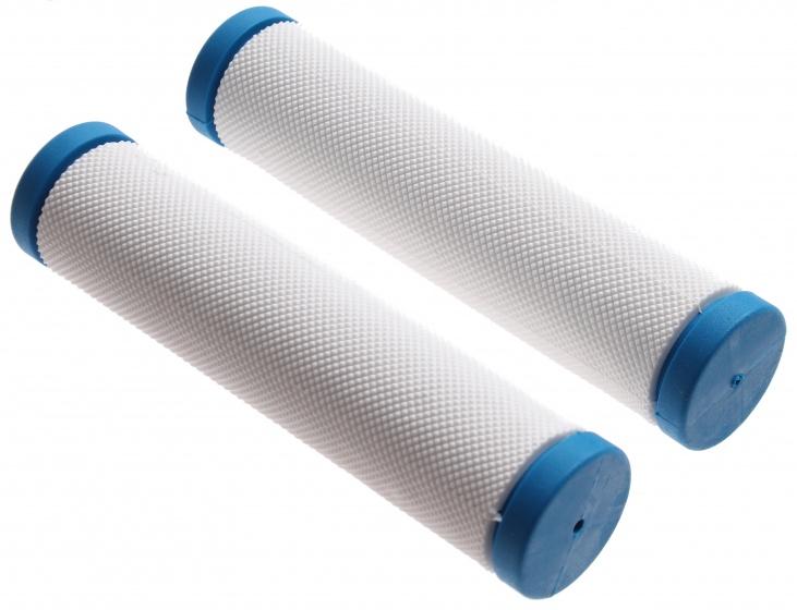 Topeak handvatten 13 cm wit/blauw per paar