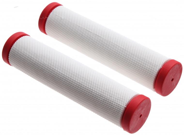 Topeak handvatten 13 cm wit/rood per paar