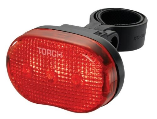 Torch achterlicht Tail Bright 3 batterij led rood