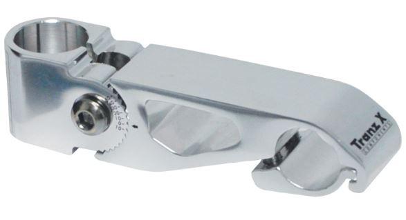 TranzX stuurpen voorbouw Ahead 115 mm aluminium zilver