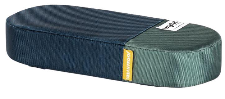 Urban Proof bagagedragerkussen 37 cm polyetheen blauw/groen