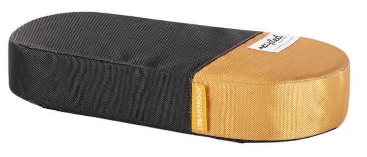 Urban Proof bagagedragerkussen 37 cm polyetheen grijs