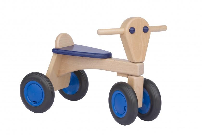 Van Dijk Toys houten loopfiets Junior Blauw