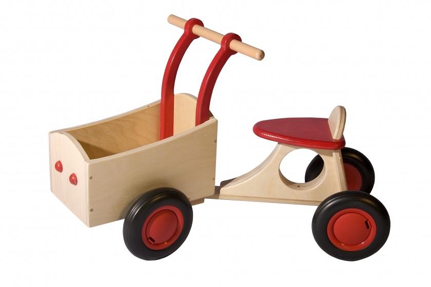 Van Dijk Toys houten bakfiets rood