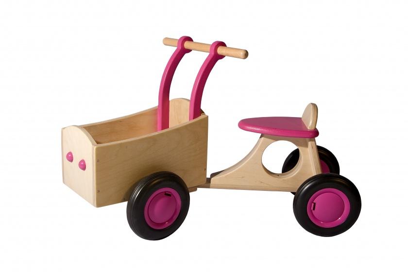 Van Dijk Toys loop bakfiets Junior Roze