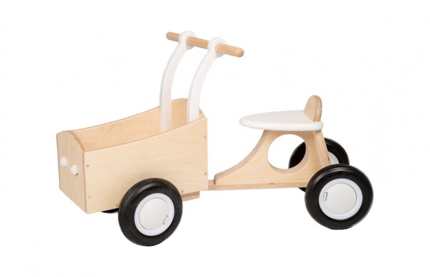 Van Dijk Toys loop bakfiets Junior Wit