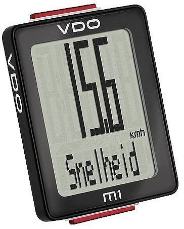 VDO fietscomputer M1 zwart
