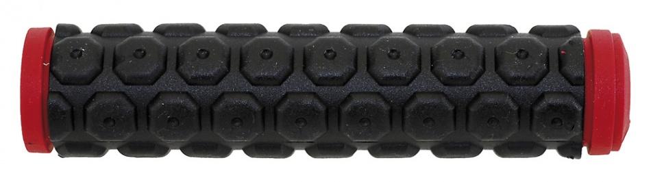 Velo handvat D2 Knoppen 130 mm zwart/rood per set