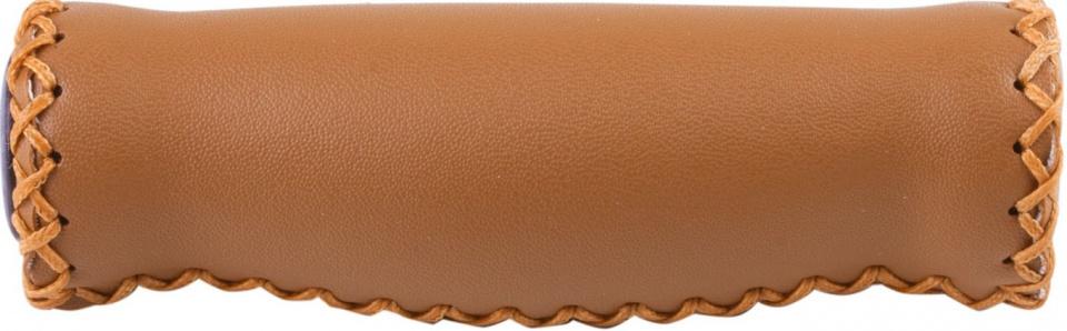 Velo handvatten 125 mm kunstleer bruin per set