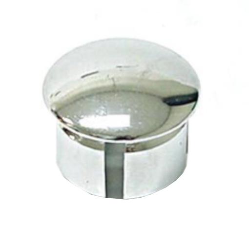 Velox stuurdoppen 24 mm chroom 30 stuks