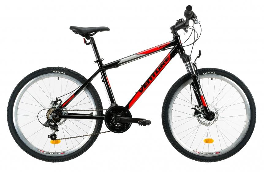 Venture 2621 mountainbike 26 Inch 38 cm Jongens 18V V Brake Zwart/Rood