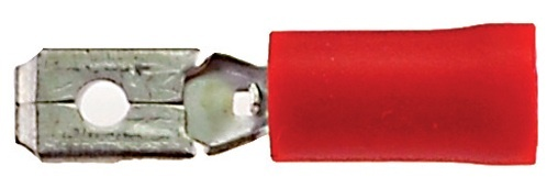 Bofix kabelschoen stekker man plat 4.8 mm rood 25 stuks
