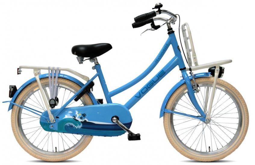 Vogue Transporter 20 Inch 34 cm Meisjes Terugtraprem Blauw