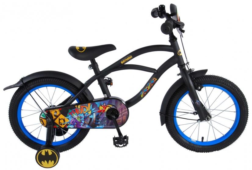 Volare Batman 16 Inch 25,4 Cm Jongens Terugtraprem Zwart online kopen