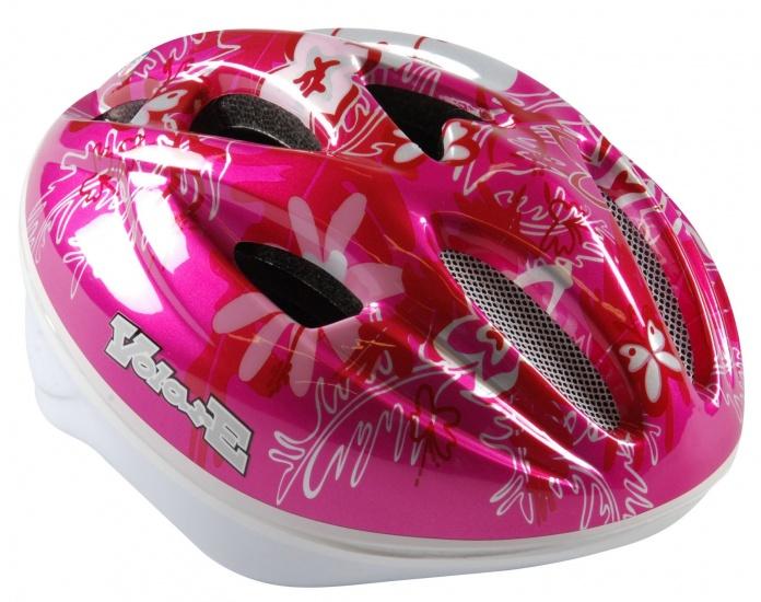 Volare Fiets- en skatehelm deluxe roze