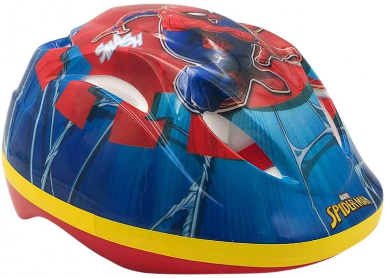 Volare fietshelm Spider man jongens 51 55 cm blauw/rood