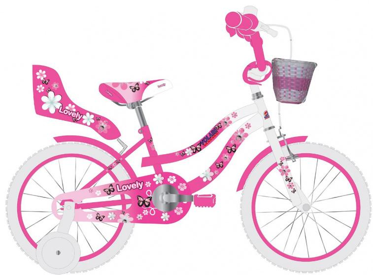 Volare Lovely Kinderfiets Meisjes 16 inch Roze Wit 95% afgemonteerd online kopen