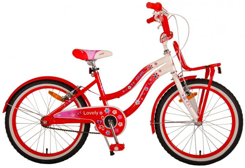 Volare Lovely Kinderfiets Meisjes 20 inch Rood Wit Twee Handremmen online kopen