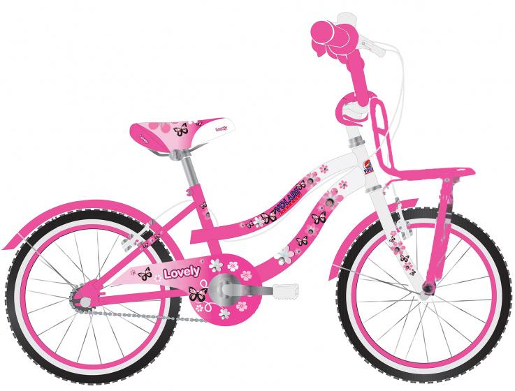 Volare Lovely Kinderfiets Meisjes 20 inch Roze Wit Twee Handremmen online kopen