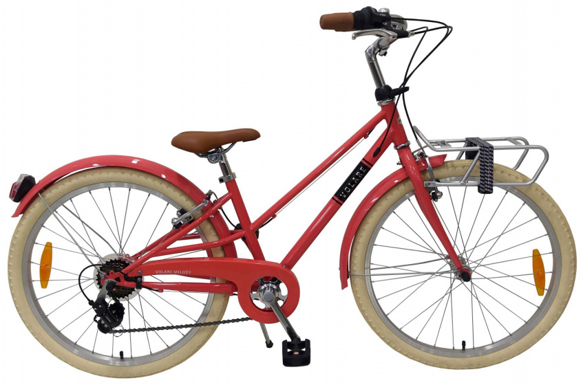 Volare Melody Kinderfiets Meisjes 24 inch Pastel Rood 6 speed Prime Collection online kopen