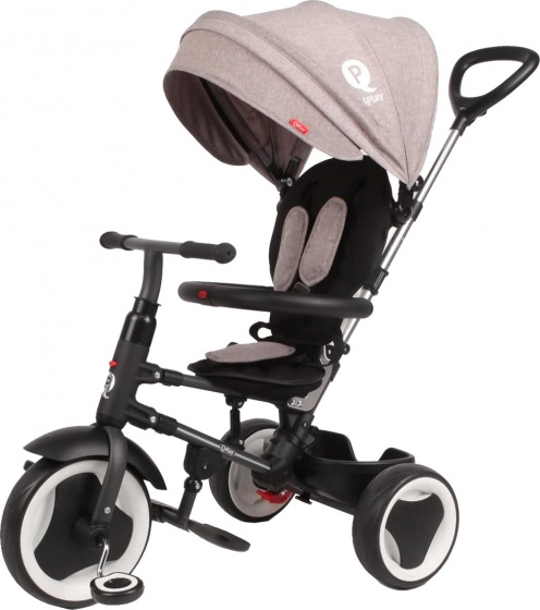 QPlay driewieler Rito Deluxe Junior Zwart/Grijs