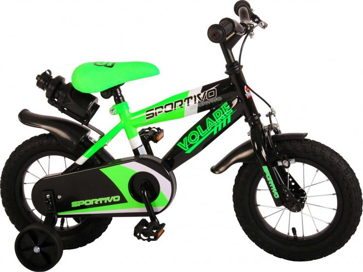 Volare Sportivo Kinderfiets Jongens 12 inch Neon Groen Zwart 95% afgemonteerd online kopen