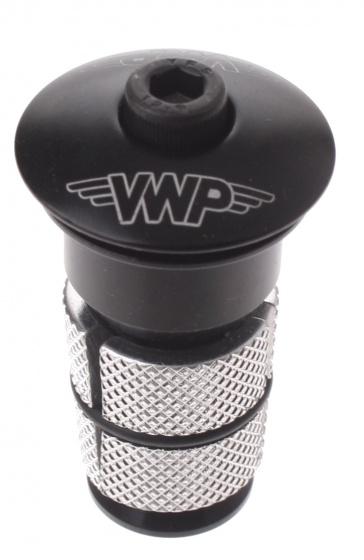 VWP balhoofdplug 1 inch aluminium zwart