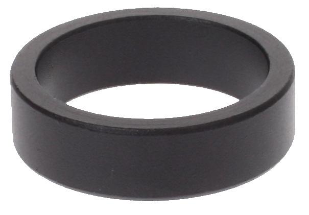 VWP Balhoofdring 1 1-8 Inch X 5 mm Aluminium Zwart 50 Stuks