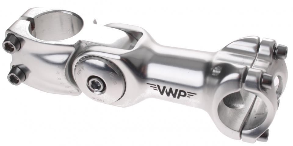VWP stuurpen voorbouw verstelbaar 25,4/110/28,57 mm zilver