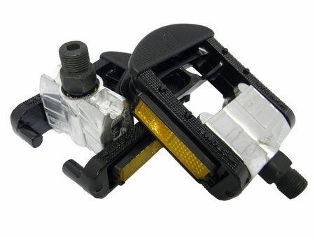 VWP Vouwpedaal Vouwfiets Super Alu-Alu 9-16 inch zwart set