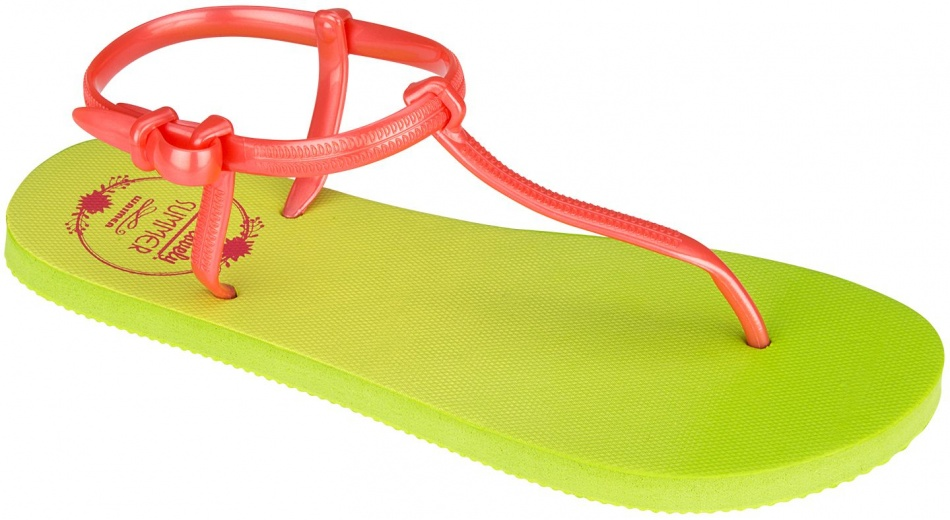 Waimea Teenslippers women green / yellow